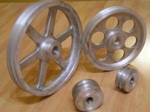 Aluminium Keilriemenscheibe für Kegelspalter