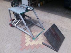fahasogató gép levehető asztal