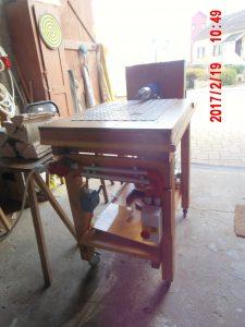 körfűrész asztal